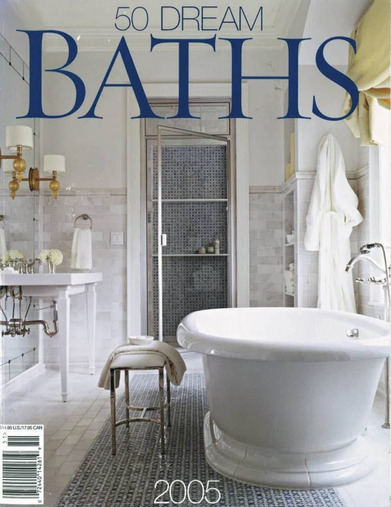 Better Homes and Gardens: 50 Dream Baths featuring the work of Tom Conway, Architect