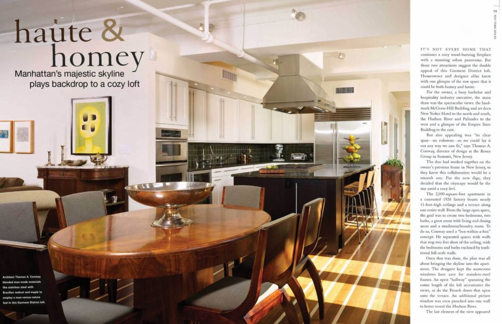 Haute and Homey article about Tom Conway Architect